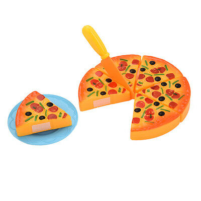 Childrens/Kids Pizza Slices Toppings Pretend Dinner Kitchen Play Food Toy Gift