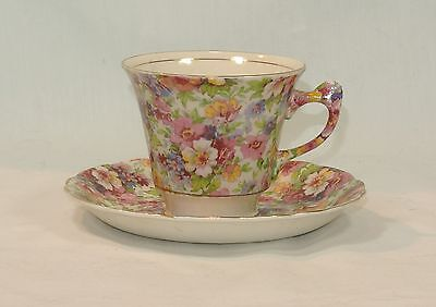 Vintage CHINTZ James Kent DUBARRY English China Cup and Saucer Set