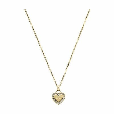 Michael Kors MKJ3969710 Ladies' Gold-Tone Heart Pave Necklace - RRP £ 95