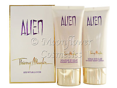 Alien Thierry Mugler Radiant Shower Gel 100ml & Body Lotion 100ml Box Set SEALED