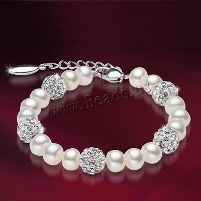 Free Shipping Freshwater 100% Natural Real Pearl Bracelet White Pearls Women Bra
