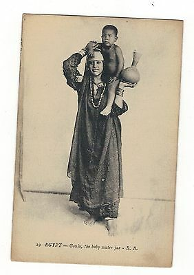 Ethnic. Goula. The Baby Water Jar Old Printed Postcard