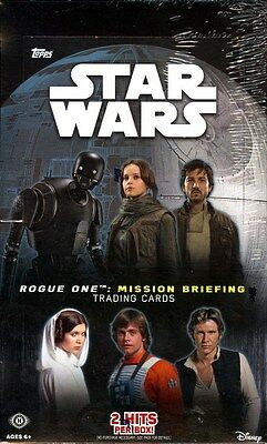 2016 Topps Star Wars Rogue One Mission Briefing Hobby Box Blowout Cards