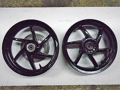 Piaggio NRG50 Wheels. Front & Back, Black, Front Disc Included.