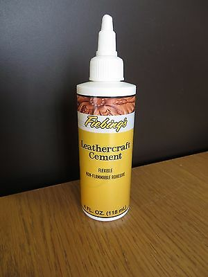 FIEBINGS LEATHER CEMENT /  ADHESIVE / GLUE 118ml bottle STRONG TANNERS BOND