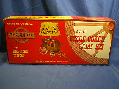 """Stage Coach Lamp kit # 603-700 by """"Wagon masters""""1960's retro wooden kit"""
