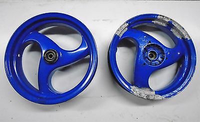 Piaggio NRG50  Wheels, Front & Back,  Blue, Used.