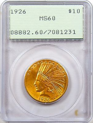 1926 $10 Indian Head Gold Eagle MS60 PCGS Old Rattler!