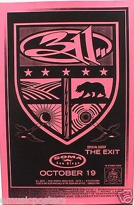 311 / THE EXIT SAN DIEGO 2005 CONCERT TOUR POSTER - Band Logo On Shield