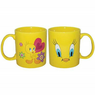 Looney Tunes Tweety Bird Face 14 oz Yellow  Ceramic Coffee Mug, New Unused