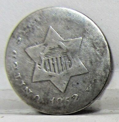 1852 Three Cent Silver - Nice Full Date