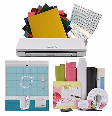 Silhouette Cameo 3 with 10 Sheets ORACAL 651, Transfer Tape, Vinyl Starter Kit