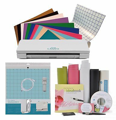 Silhouette Cameo 3 with 10 Sheets 631 Vinyl, Transfer Tape, Vinyl Starter Kit