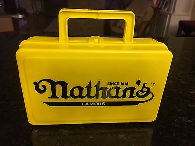 Rare Plastic Nathan's Famous Lunch Box, Whirley Industries