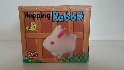 Hopping Rabbit Wind-Up soft pink very cute toy, Great stocking filler!