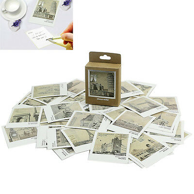 40pcs Vintage Postcards Message Cards European Landscape Painting Card
