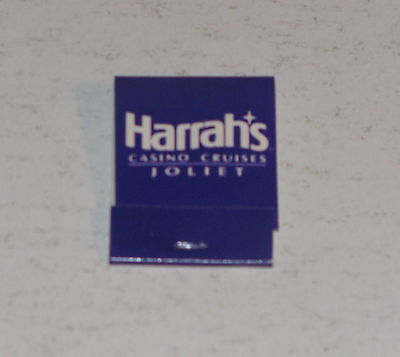 Vintage Harrah's Joliet Casino Cruises Matchbook Unused