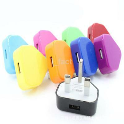 UK Plug Mains Wall 3 Pin USB Power Adaptor Charger For Mobile Phone Tablet NEW