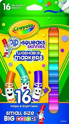 Crayola Pip-squeaks Skinnies Washable Markers, 16 Count (Pack of 2) Total 32 Mar