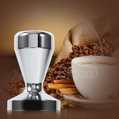 Silver Smooth Stainless Steel Espresso Coffee Beans Tamper For Home Office Cafe
