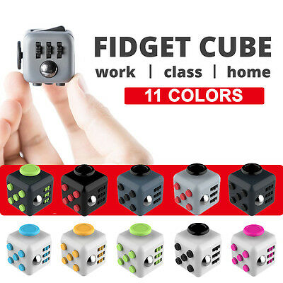 11 COLORS Fidget Cube Magic Dice Adult Focus Stress Relife Kids Toy Xmas Gift