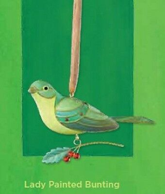 2012 Hallmark LADY BUNTING Ornament BEAUTY OF BIRDS Limited Edition *PriorityShp