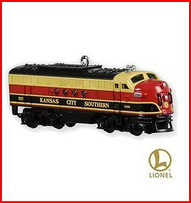 2010 Hallmark LE LIONEL TRAIN Ornament KANSAS CITY SOUTHERN LOCOMOTIVE Priority