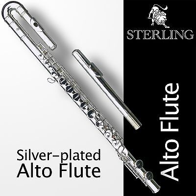 Silver-plated STERLING Alto Flute • With Case • Superb Quality •