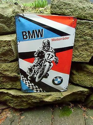 German BMW Motorcycles Motorrader - Official Wall Sign - Made in Germany