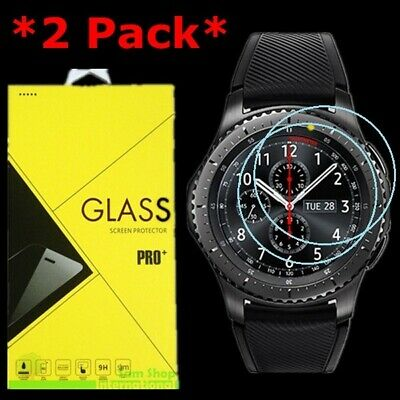 2-Pack Tempered Glass Screen Protector For Samsung Gear S3 Frontier Smart watch