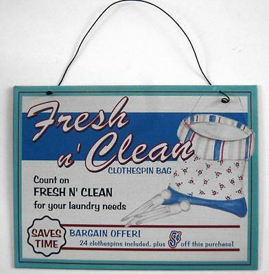 Vintage Style Hanging Metal Laundry Wall Plaque Advertising Sign Nostalgia NEW