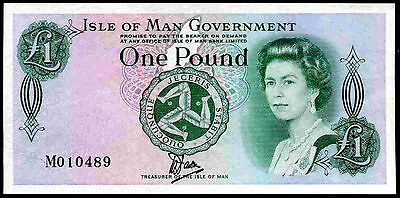 Isle of Man, One Pound, plastic, M010489, (1983), Nearly Extremely Fine.