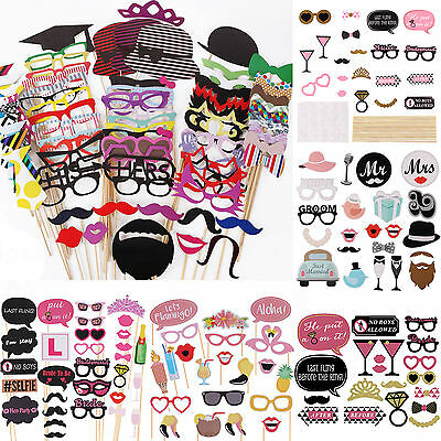 New DIY 30/76pcs Photo Booth Props Mustache On A Stick Weddings Birthday Party