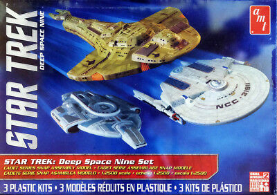 Star Trek Deep Space Nine Set 3 Modelle USS 1:2500 AMT Model Kit Bausatz AMT764