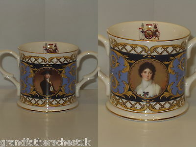 Rare Lord Nelson Collection Maritime Museum Flair English China Loving Cup Mug