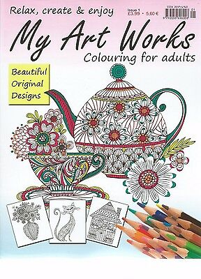 Relax With Art Works Colouring Book For Adults Issue 1 Therapeutic-Creative New