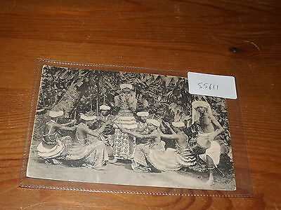 Old CEYLON  postcard our ref #55611 STICK DANCING BY NAUTCH DANCER