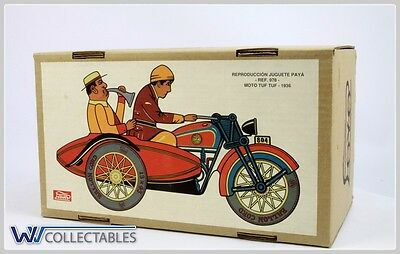 Paya Tin Toy Ref 978 Moto Tuf Tuf 1936 Limited Number. New Old Stock