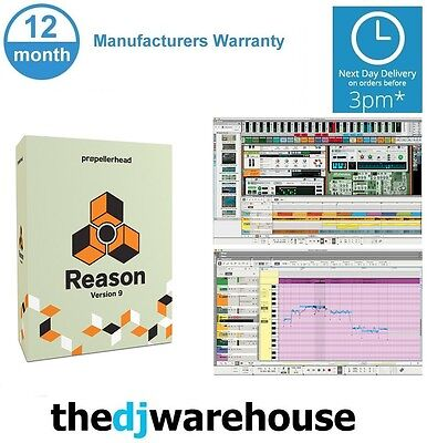Propellerhead Reason 9 Music Production Software (full retail boxed version)