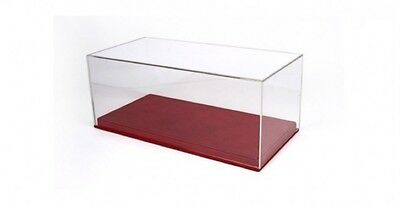 BBR 1:18 Display Case with Red Leatherette Base 13 x 6.5 x 5.5 inches