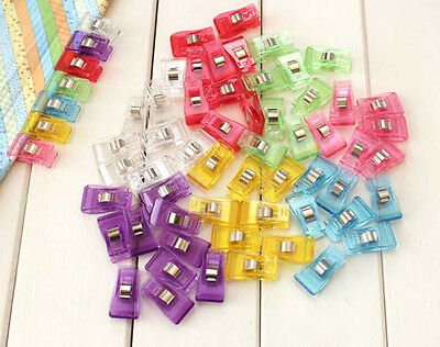 100 PCS Pack Clover Wonder Clips for Crafts Quilting Sewing Knitting Crochet New
