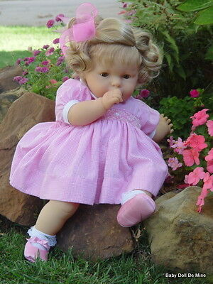 "Retired Berjusa Battery Operated Big 24"" Baby Doll With Makeover open close Eyes"