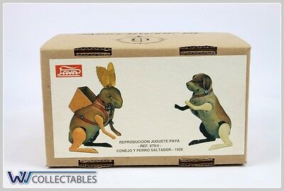 Paya Tin Toy Conejo Y Perro Saltador 1928 Limited Number. New Old Stock