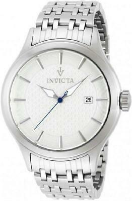 Invicta 12240 45mm Vintage Date Silver tone Stainless Steel Mens Watch
