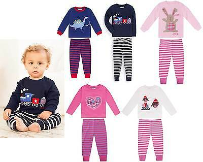 Jojo Maman Bebe cotton applique and print pyjamas boys girls baby New