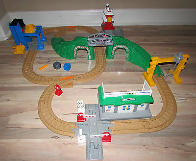 Fisher Price Geotrax Tracktown Railway Track Set - No Train or Remote B1836 #D