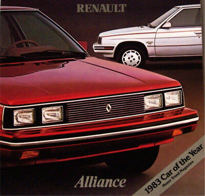 1983 83 Renault Alliance  original sales brochure MINT