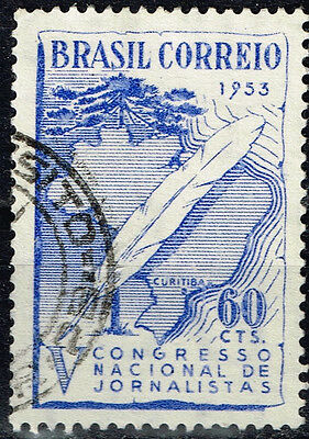 Brazil Countrie Map stamp 1953