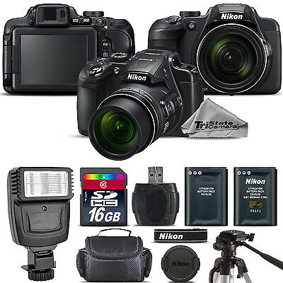 Nikon COOLPIX B700 Digital 20.2MP 4K Video WiFi NFC Camera 60x Zoom - 16GB Kit