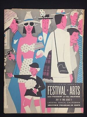 Vintage 1953 18th Festival of Arts Pageant of Masters Program Laguna Beach Cal